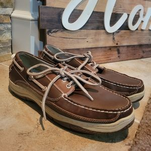 Bass Men's Brown Leather Boat Shoes Size 8.5